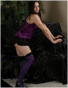 Amy Sativa in purple from Almost Evil Girls